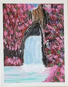 Cherry Blossom Cascades by F-Kenneth Taylor