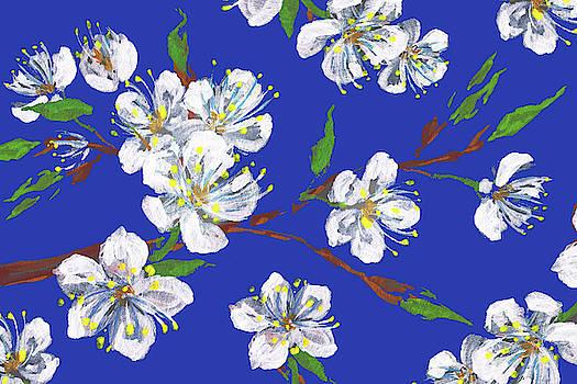 Irina Sztukowski - Cherry Blossoms Blue Sky Floral Impressionism
