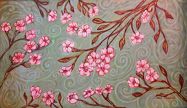 Cherry Blossoms in the Breeze by Dawn Thibodeaux