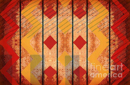 Chevron And Shade - Horizontal by Diann Fisher
