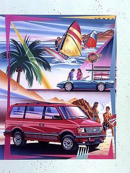Garth Glazier - Chevy Astro Van and Corvette Surfer Scene