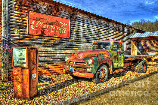 1954 Chevrolet 6400 Two Ton Flat Bed Antique Truck Scene Art by Reid Callaway