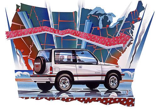 Garth Glazier - Chevy Tracker Car Illustration