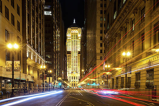 Chicago Board of Trade at Twilight by Andrew Soundarajan