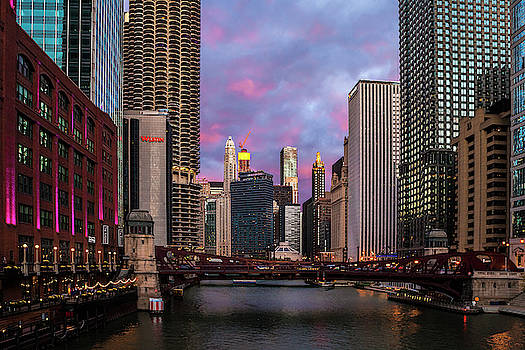 Chicago Evening by Andrew Soundarajan