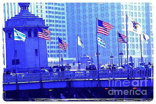Frank J Casella - Chicago Flags