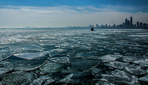 Chicago in winter by Stuart Manning