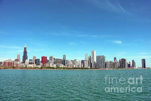 Chicago Urban Skyline View by Eddie Hernandez