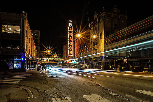 Chicago's Aragon Ballroom Time Exposure by Sven Brogren