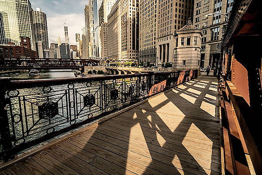 Chicago's Loop from the Franklin street bridge by Sven Brogren