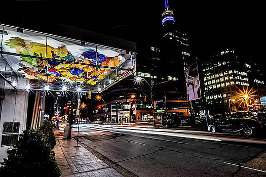 Chihuly glass in Toronto night scene by Sven Brogren