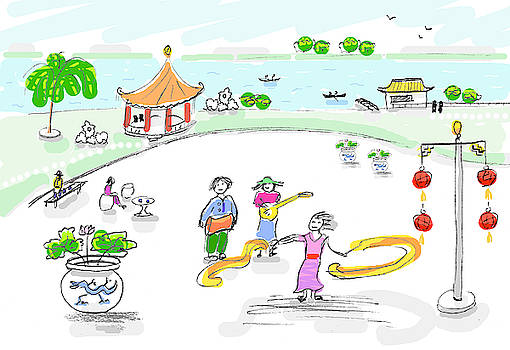 China park life - music and dance fun by Steve Clarke