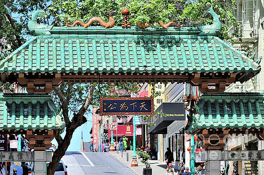 China Town SF Dragon Gate by Diann Fisher