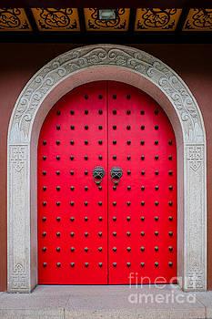 Chinese door Shanghai by Iryna Liveoak