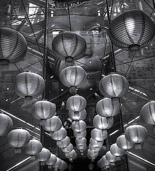 Chinese Lanterns Monochrome by Jeff Townsend