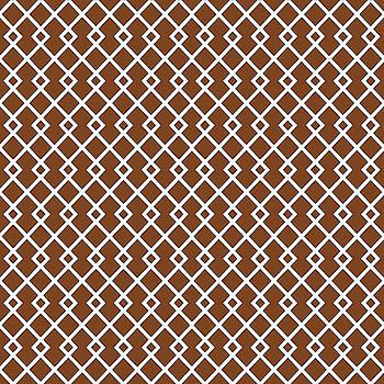 Chocolate Brown Diamond Pattern by Ross