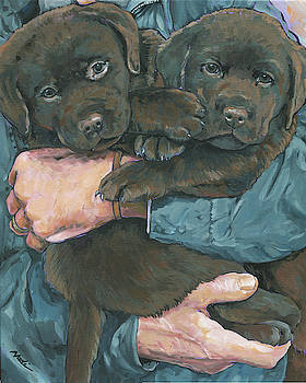 Chocolate Lab Puppies by Nadi Spencer