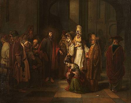 Christ and the Woman in Adultery by Gerbrand van den Eeckhout