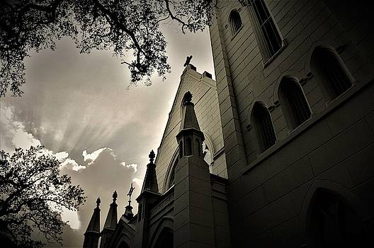 Christ Church Cathedral Episcopal In New Orleans by Michael Hoard