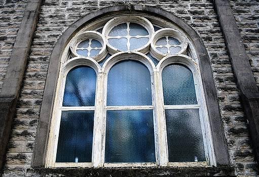 Christ Church Windows In Irish Channel Of New Orleans Louisiana by Michael Hoard