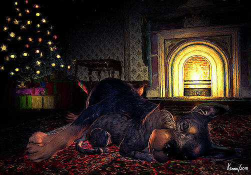 Christmas Eve Napping by Ken Morris
