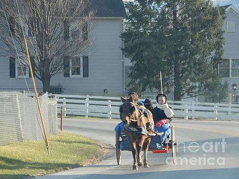 Christine Clark - Christmas Eve Pony Cart Ride