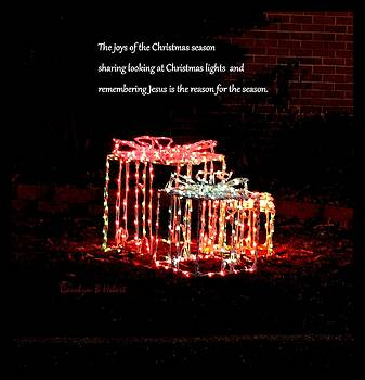 Christmas Lights Remembering Jesus is the Reason for the Season by Carolyn Hebert