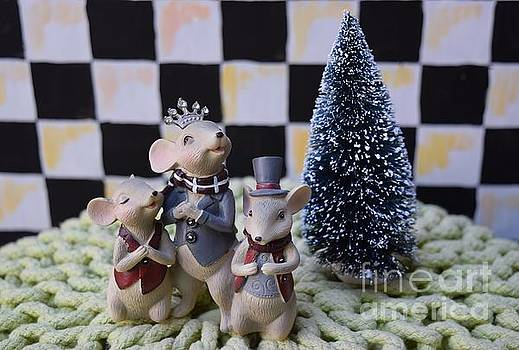 Christmas mice chess session by Inessa Williams