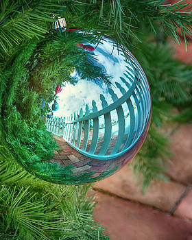 Christmas Ornament Outdoor Reflection by Mitch Spence