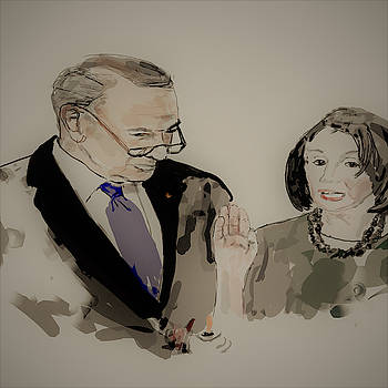 Chuck  and Nancy  by Debbi Saccomanno Chan