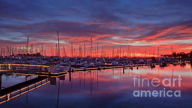 Chula Vista J Street Marina Sunset by Sam Antonio Photography