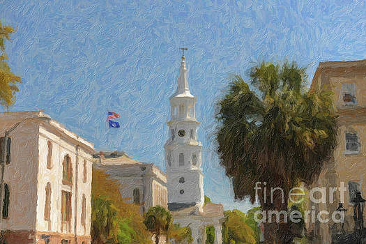 Dale Powell - Church Bells Ringing in Downtown Charleston