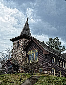 Church in Lake Placid by Maggy Marsh
