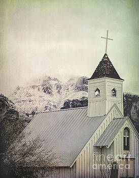 Church Snowy Mountains by Jill Battaglia