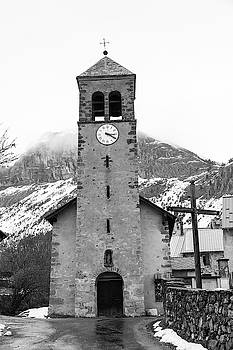 Church St Roch - Le Lauzet - French Alps by Paul MAURICE