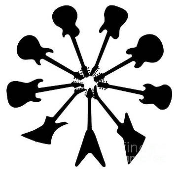 Circle Of Guitar Silhouettes by Bigalbaloo Stock