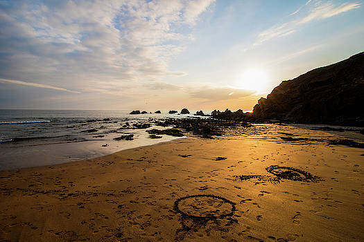 Circles in the sand by Martin Newman