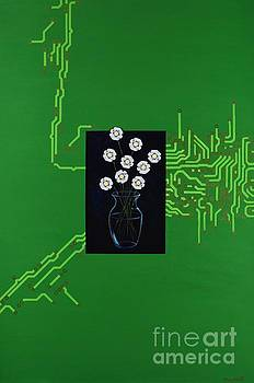 Circuit Board Bouquet by Mary Scott