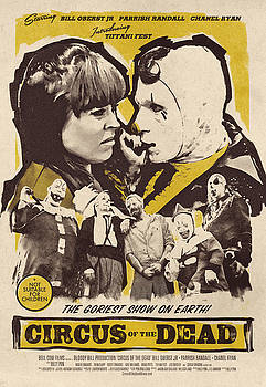 Circus of the Dead - The Greatest Show on Earth - Vintage Advertising Poster by Siva Ganesh