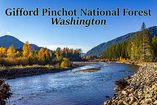 Cispus River in the Gifford Pinchot National Forest, Washington state by G Matthew Laughton