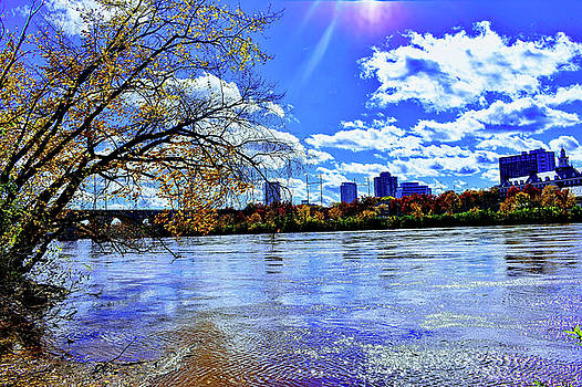 City Across A New Jersey River by Kathy Gail
