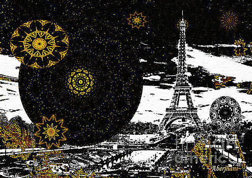 City of Lights - Kaleidoscope Moon for Children Gone Too Soon Number 6  by Aberjhani