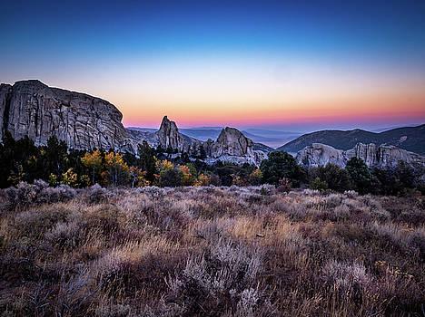 City of Rocks Sunset by Michele James