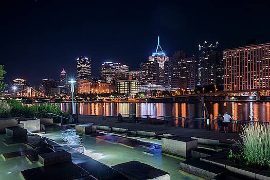 City Skyline of Pittsburgh at night by Steven Heap