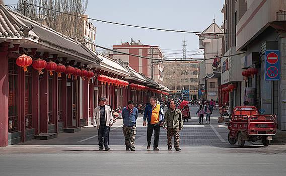 City Streets Dunhuang Gansu China by Adam Rainoff