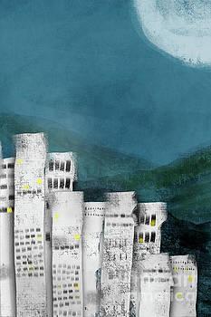 Benjamin Harte - City under a moon lit sky