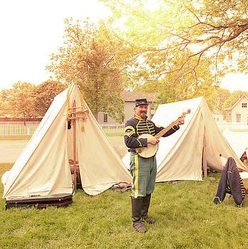 Civil War Banjo Player by Karen Varnas