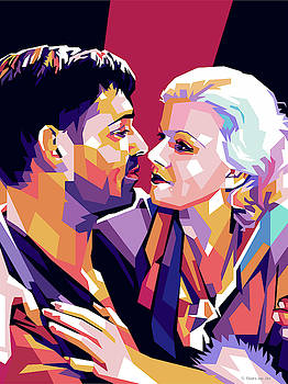 Clark Gable and Jean Harlow by