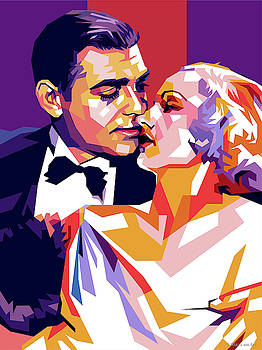 Clark Gable and Carole Lombard by