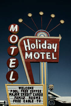 CLASSIC 1950s HOLIDAY MOTEL SIGN - LAS VEGAS by Daniel Hagerman